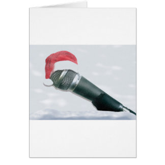 Christmas Microphone Card