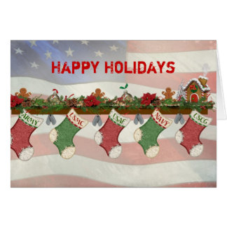 Christmas Military Mantle Greeting Card