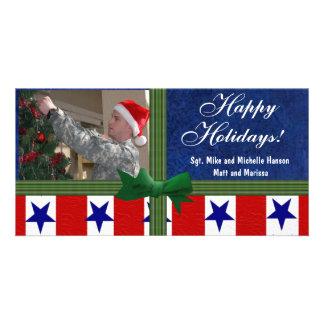 Christmas Military Patriotic Custom Card