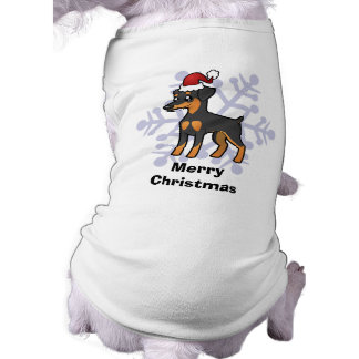 Christmas Miniature Pinscher / Manchester Terrier Doggie T Shirt