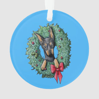 Christmas Miniature Pinscher Ornament