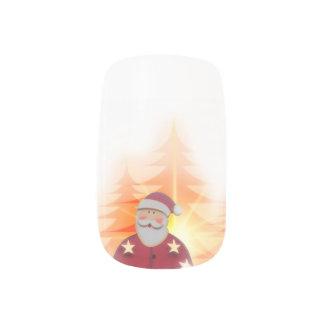 Christmas Minx Nails/Santa Claus Minx Nail Art