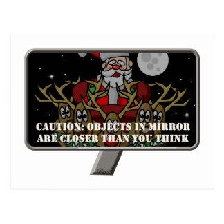 Christmas Mirror Postcard