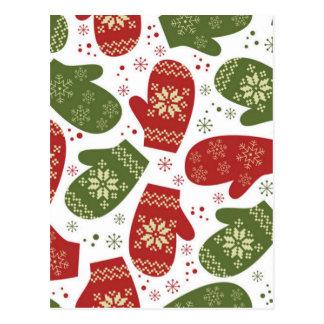 Christmas Mittens Postcard