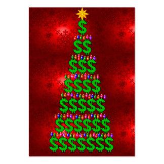 Christmas Money Tree Large Business Card
