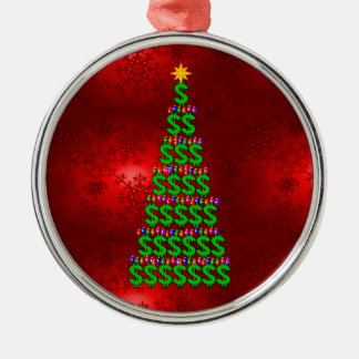 Christmas Money Tree Metal Ornament