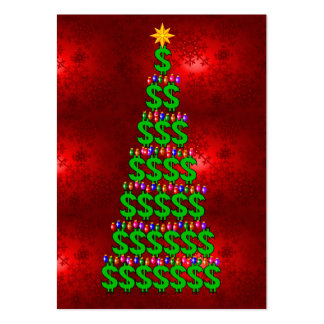 Christmas Money Tree Pack Of Chubby Business Cards