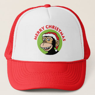 Christmas Monkey Trucker Hat