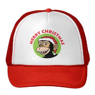 Christmas Monkey Trucker Hat