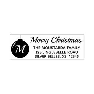 Christmas Monogram Stamp Return Address Ornament