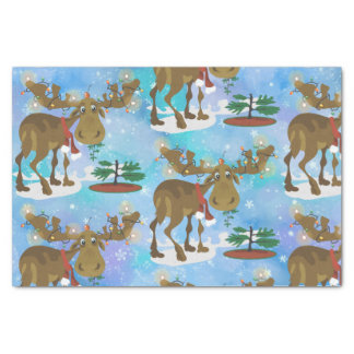 Christmas Moose ~ Tissue Paper
