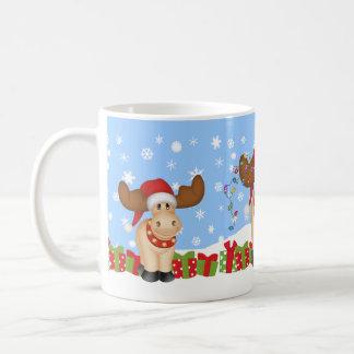 Christmas Moose with Presents Coffee Mug