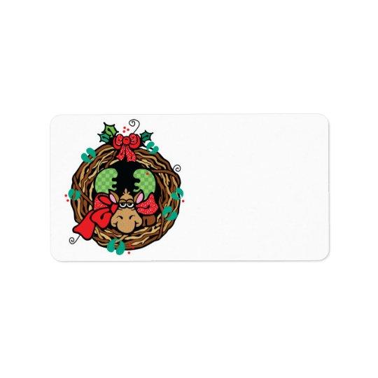christmas moose wreath design