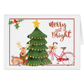 Christmas Morning Bicycle Card