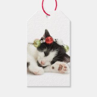 Christmas Morning Kitten Gift Tags