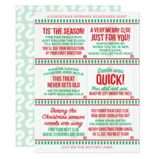 Christmas Morning Scavenger Hunt Card