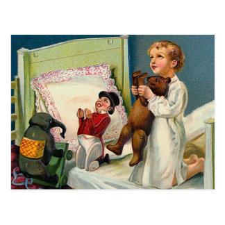"""""""Christmas Morning"""" Vintage Postcard"""