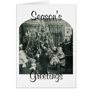 Christmas Morning - Vintage Stereoview Greeting Card