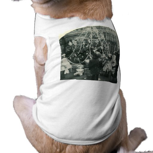 Christmas Morning - Vintage Stereoview Pet Tee Shirt