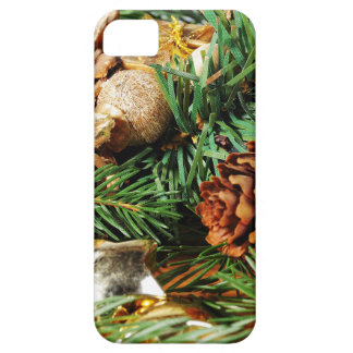 Christmas motive of branches of fir and decoration iPhone 5 cases