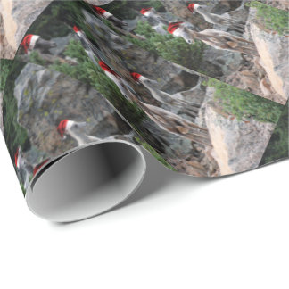 Christmas Mountain Goats Wrapping Paper