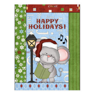 Christmas, Mouse, greeting, postcard