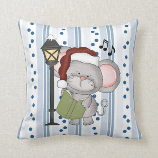 Christmas Mouse Holiday Pillow