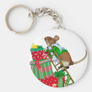 Christmas Mouse  Keychain