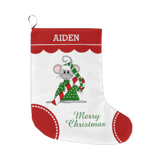Christmas Mouse Large Christmas Stocking