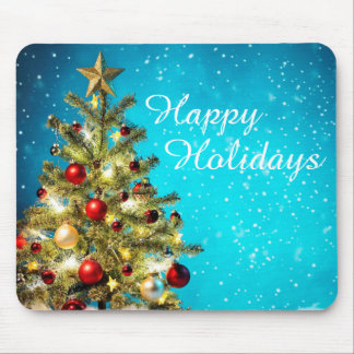 Christmas Mouse pad/Happy Holidays Tree Mouse Pad
