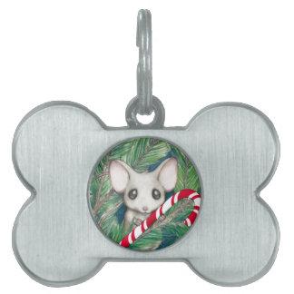 Christmas Mouse Pet ID Tag