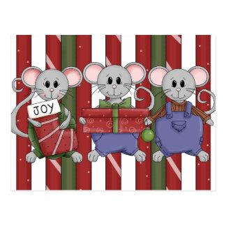 Christmas Mouse Postcard
