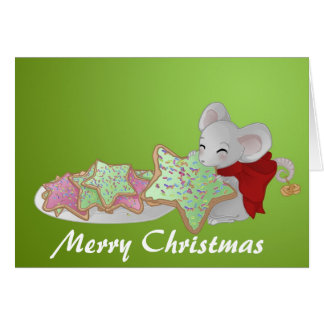Christmas mouse the cookie thief card