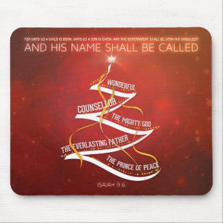 Christmas Mousepad - Isaiah 9:6 Bible Verse
