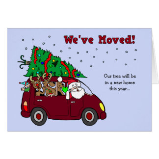 Christmas Moving Announcement card