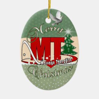 CHRISTMAS MT  Massage Therapist Ceramic Ornament