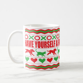 "Christmas Mug 11 oz. ""Cat Dog Mug Furry Christmas"""