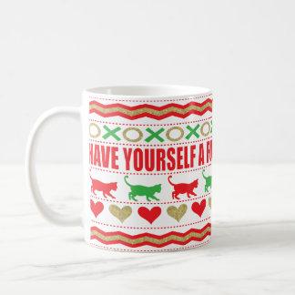 """Christmas Mug 11 oz. """"Cat Mug Furry Christmas"""""""