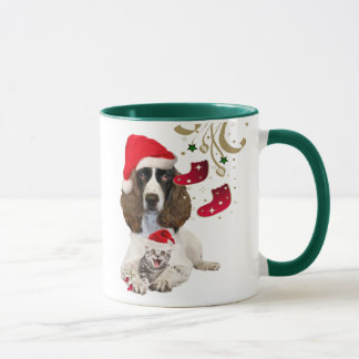 Christmas Mug English Springer Santa