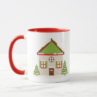 Christmas Mug with Santa's House