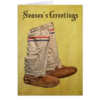 Christmas Mukluks Card