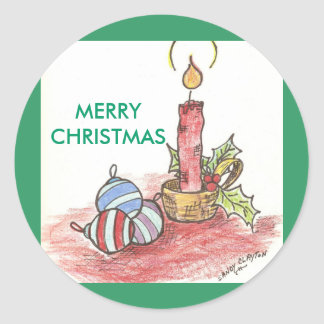 Christmas - multiple products round sticker