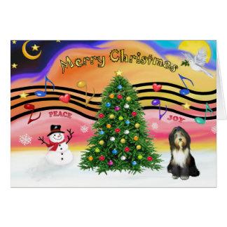 Christmas Music 2 - Bearded Collie 9 Card