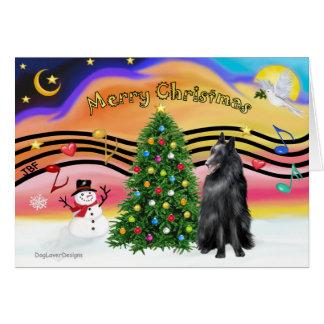 Christmas Music 2 - Belgian Sheepdog Card