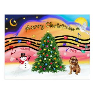 Christmas Music 2 - Brussels Griffon 1 Postcard
