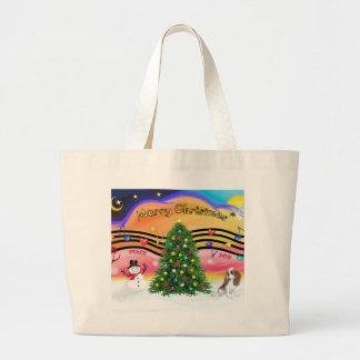 Christmas Music 2 - Cavalier (Blenheim F) Large Tote Bag