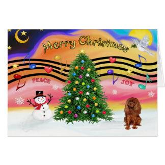 Christmas Music 2 - Cavalier (Ruby) Card