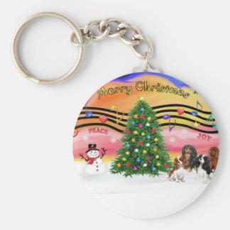 Christmas Music 2 - Cavaliers (four) Basic Round Button Keychain