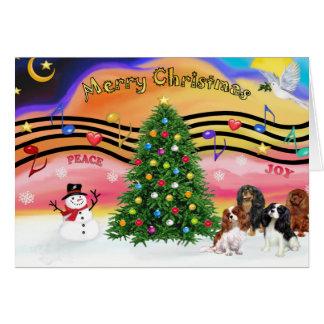 Christmas Music 2 - Cavaliers (four) Card