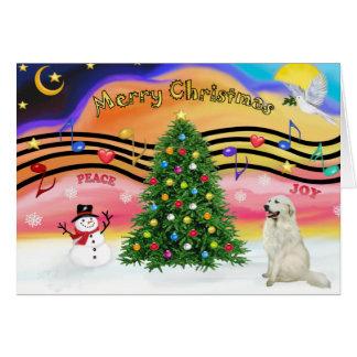 Christmas Music 2 - Great Pyrenees 4 Card